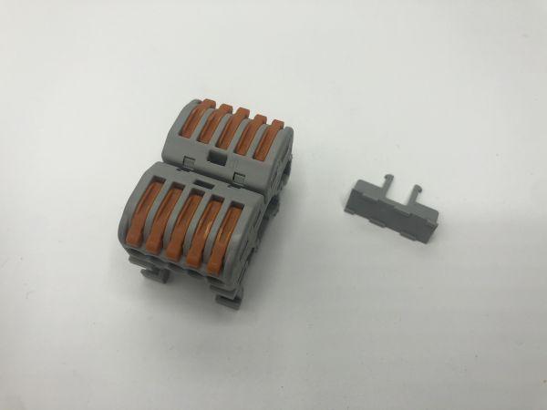 Wagoklemme 2x Fünffach Litze/Draht auf DIN Schiene