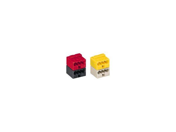 Micro-Buchsenklemmen KNX - 4L - 0.6-0.8mm2 - rot/ grau