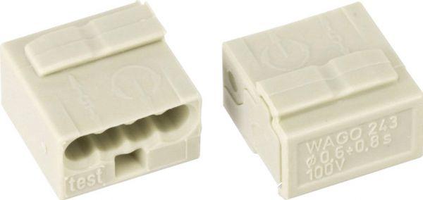 Micro-Steckklemme - 4L - 0.6-0.8mm2 - grau
